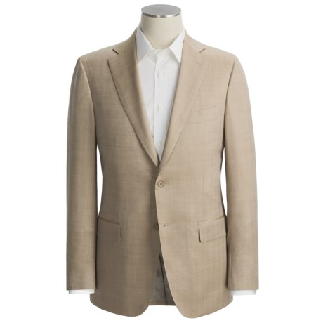 Isaia Small Herringbone Sport Coat - Wool-Silk (For Men)