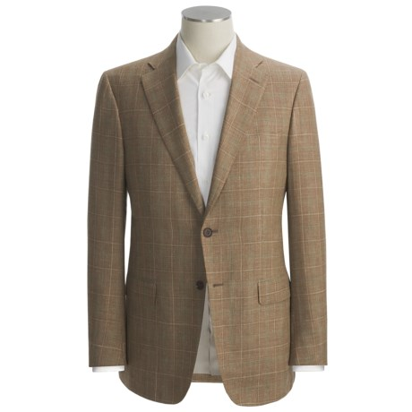 Isaia Multi-Check Sport Coat - Wool-Silk-Linen (For Men)