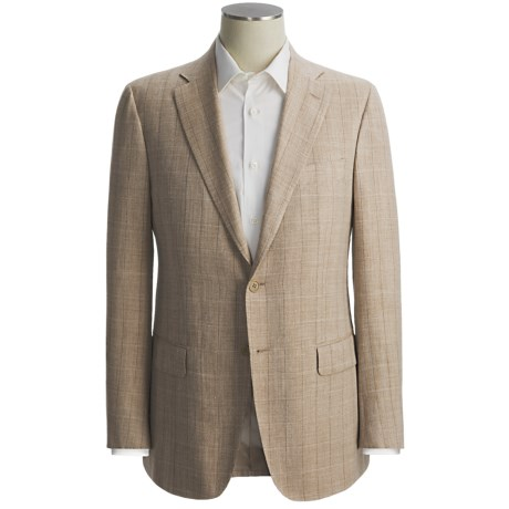 Isaia Large Herringbone Sport Coat - Wool-Silk-Linen (For Men)