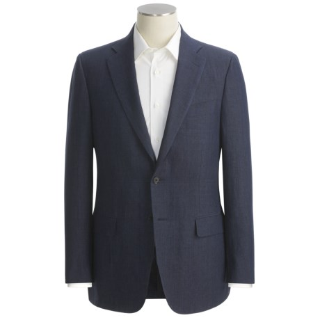 Isaia Micro-Check Sport Coat - Linen (For Men)