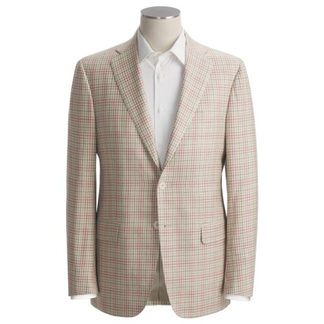 Isaia Fancy Check Sport Coat - Silk-Linen-Cotton (For Men)