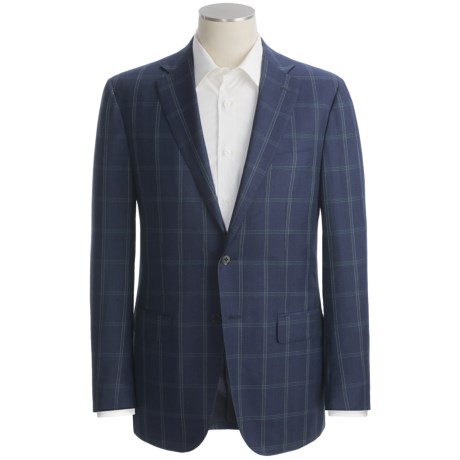 Isaia Windowpane Sport Coat - Wool (For Men)