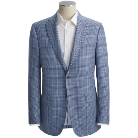 Isaia Plaid Sport Coat - Linen-Cotton (For Men)