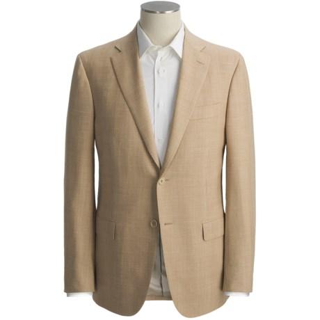 Isaia Subtle Pattern Sport Coat - Wool-Mohair-Linen (For Men)