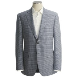 Isaia Micro-Check Sport Coat - Wool-Linen-Silk (For Men)