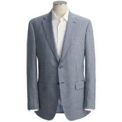 Isaia Mini-Check Sport Coat - Linen-Silk-Cotton (For Men)