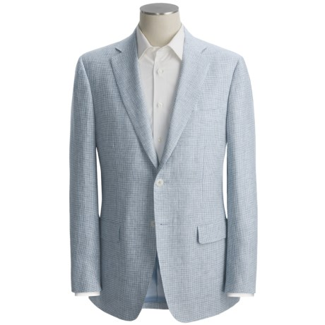 Isaia Mini-Houndstooth Sport Coat - Linen (For Men)