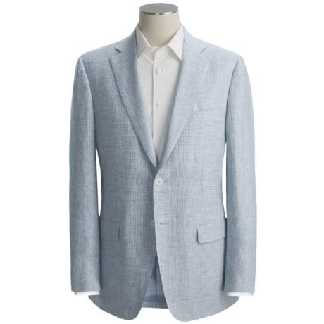 Isaia Mini-Houndstooth Sport Coat - Linen (For Men)