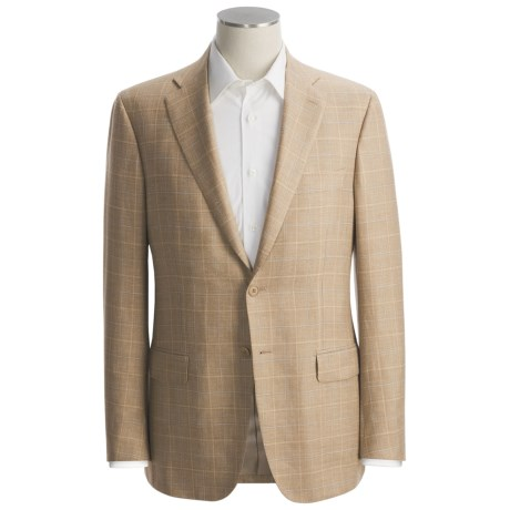 Isaia Windowpane Sport Coat - Wool-Silk-Linen (For Men)