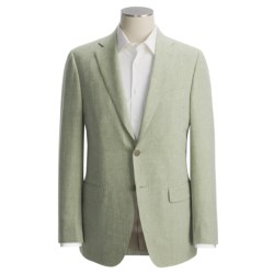 Isaia Heathered Fancy Solid Sport Coat - Linen-Wool (For Men)