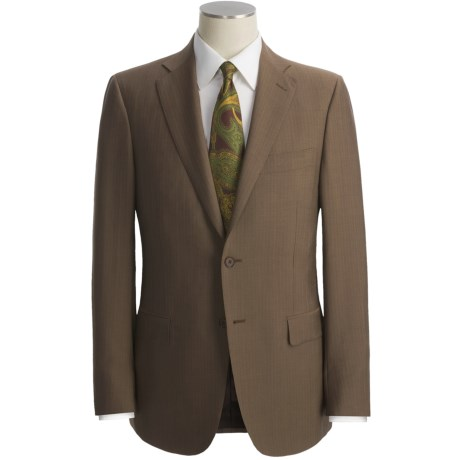 Isaia Track Stripe Suit - Wool-Mohair (For Men)
