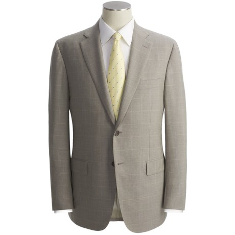 Isaia Windowpane Suit - Wool (For Men)