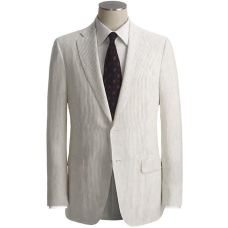 Isaia Beaded Stripe Suit - Linen (For Men)