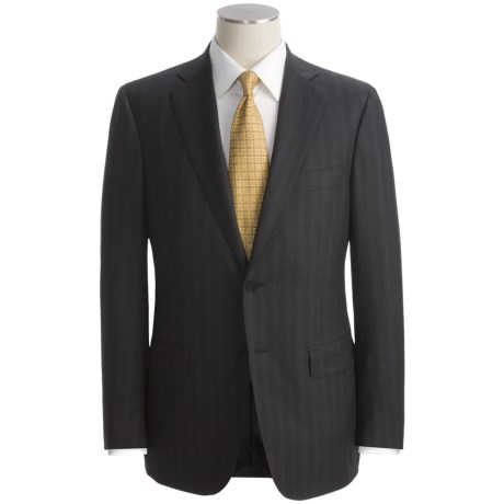 Isaia Beaded Track Stripe Suit - Wool (For Men)