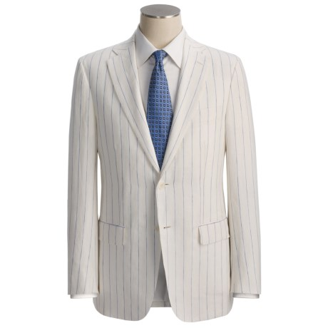 Isaia Wide Stripe Suit - Linen (For Men)