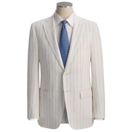 Isaia Wide Stripe Suit - Linen (For Men)
