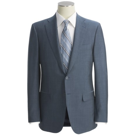Isaia Beaded Stripe Suit - Wool-Mohair Blend (For Men)