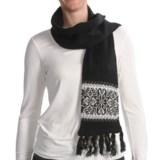 Woolrich Lindale Scarf - Wool-Angora Blend, Jacquard Print (For Women)