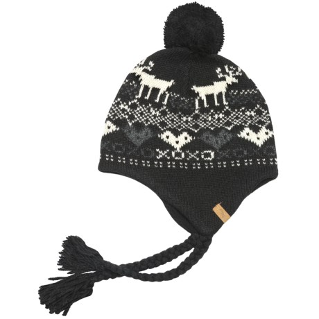 Woolrich Reindeer Hat - Jacquard Wool Blend, Ear Flaps (For Women)
