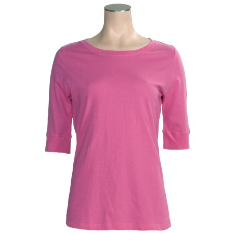Greetings From Cotton T-Shirt - Elbow Sleeve (For Women)