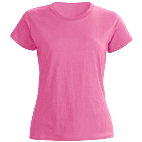 Greetings From Greeting From Cotton Jersey T-Shirt - Short Sleeve (For Women)