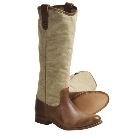 Frye Melissa Button Boots - Leather-Canvas (For Women)
