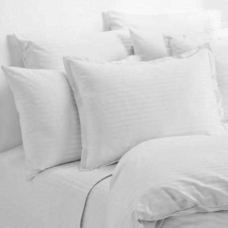 Melange Home Wide Dobby Stripe Pillowcases - King, 400 TC