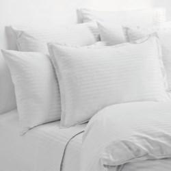 Melange Home Wide Dobby Stripe Pillowcases - Standard, 400 TC
