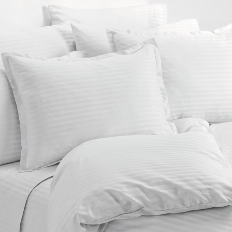 Melange Home Wide Dobby Stripe Duvet Set - Full-Queen, 400 TC