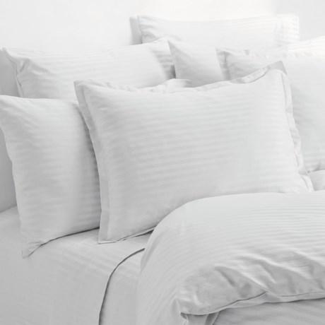 Melange Home Wide Dobby Stripe Sheet Set - Queen, 400 TC