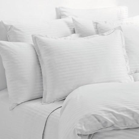 Melange Home Wide Dobby Stripe Sheet Set - Full, 400 TC
