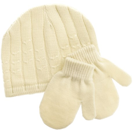 Jacob Ash Attakid Cable Stitch Hat and Mitten Set (For Infants)