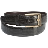 Di Stefano Lizard Print Leather Belt (For Men)