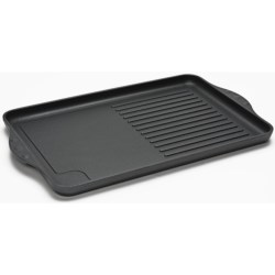 "Swiss Diamond Double Burner Grill/Griddle Combo - 17x11"", Nonstick"