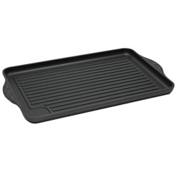 "Swiss Diamond Double Burner Grill - 17x11"", Nonstick"