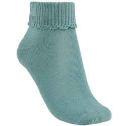 b.ella Scallop Cuff Ankle Socks - Mercerized Pima Cotton (For Women)