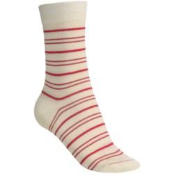 Pantherella Fancy Stripe Cotton Socks - Mid-Calf (For Women)