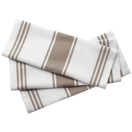 Lintex Pique Stripe Kitchen Towels - 3-Pack