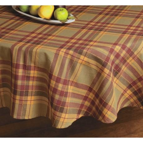 "Lintex Fall Plaid Tablecloth - 70"" Round"