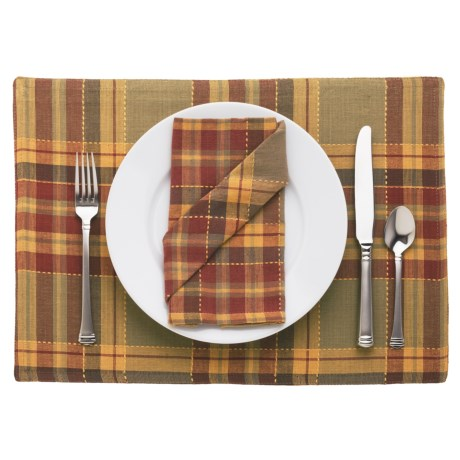 Lintex Fall Plaid Cloth Napkins - Set of 4
