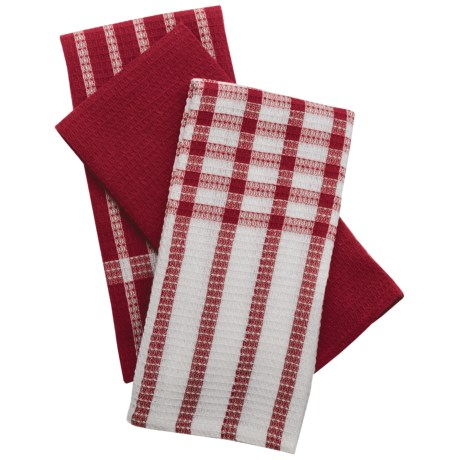 Lintex Waffle Weave Kitchen Towels - 3-Pack