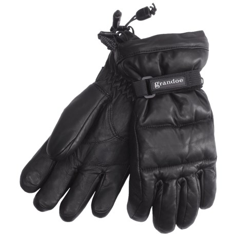 Grandoe Leather Arctic Down Gloves - Waterproof (For Women)