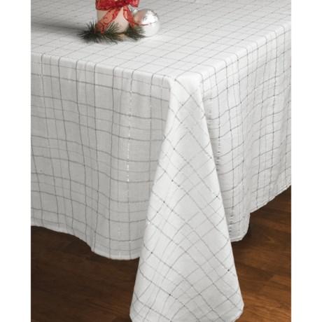 """Lintex Shimmer Plaid Table Cloth - 60 x104"""""""