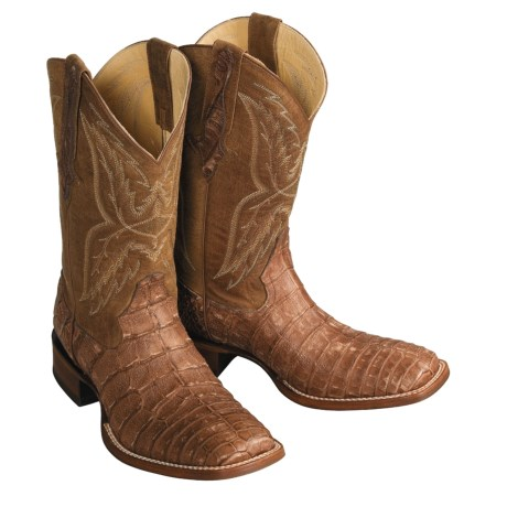Double H Caiman Alligator Western Boots - Square Toe (For Men)