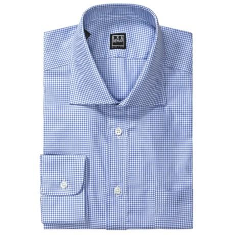 Ike Behar Gingham Check Dress Shirt - Spread Collar, Barrel Cuff, Long Sleeve (For Men)