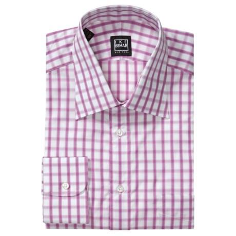 Ike Behar Check Cotton Dress Shirt - Spread Collar, Barrel Cuffs, Long Sleeve (For Men)