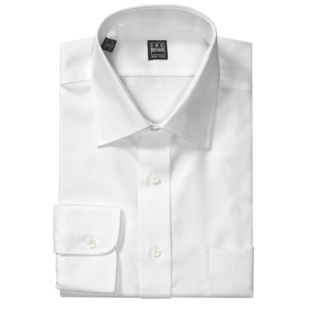 Ike Behar Solid Twill Dress Shirt - Spread Collar, Long Sleeve (For Men)