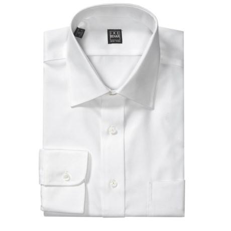 Ike Behar Solid Twill Dress Shirt - Spread Collar, Long Sleeve (For Men)