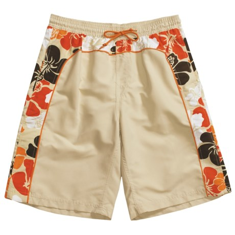 Grayson Hawaiian Floral Board Shorts (For Men)