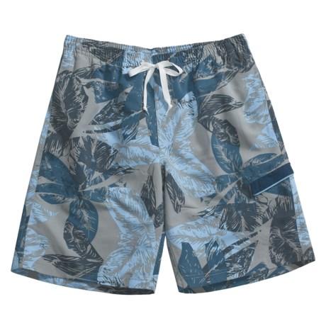 Grayson Tropical Leaf Board Shorts (For Men)